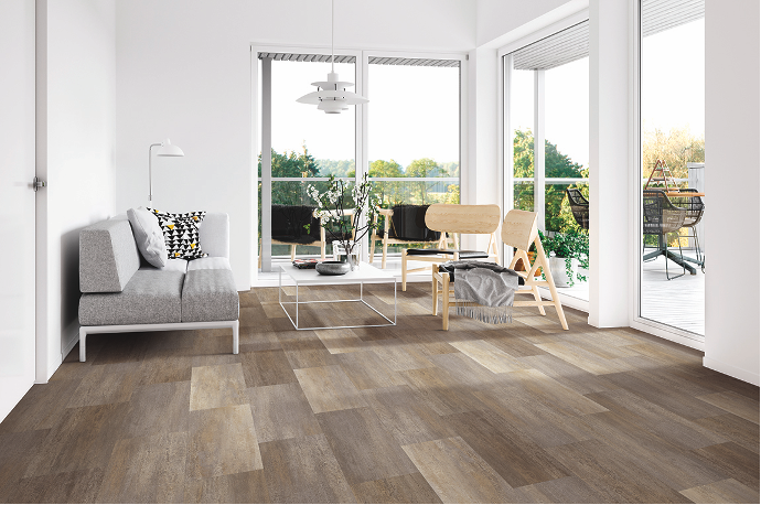Luxury Vinyl Flooring Living Room Example